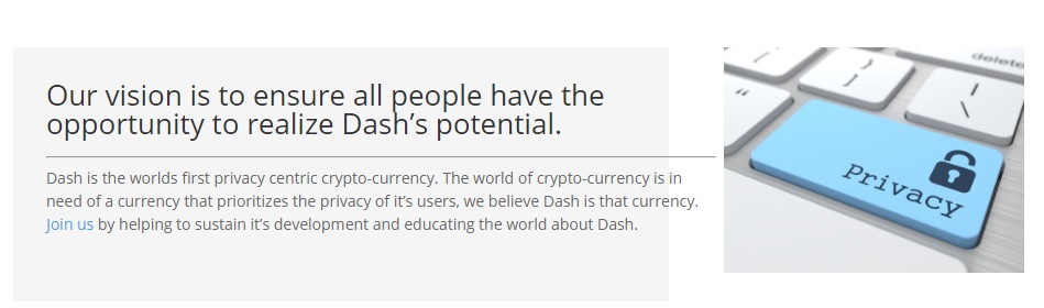 Dash on privacy features